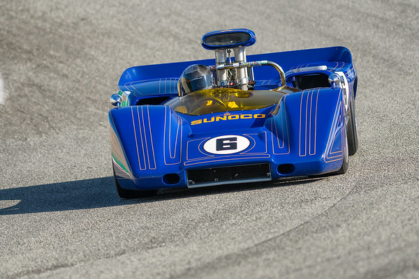 Roger Penseke's 1967 McLaren M6A driven by Bruce Marquand