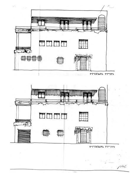 West Elevations