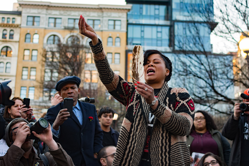NYC Vigil for Stephon Clark and Martin Luther King Jr.