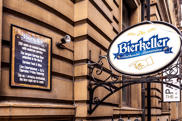 Photo's of Bierkeller bar and restaurant in Leeds park row, uk
