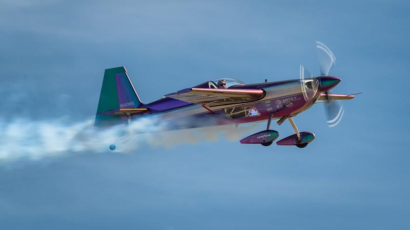 Bill Stein conducting aerobatics routine