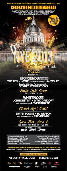 NYE 2013 @ City Hall -SF (Coleman) 12.31.12