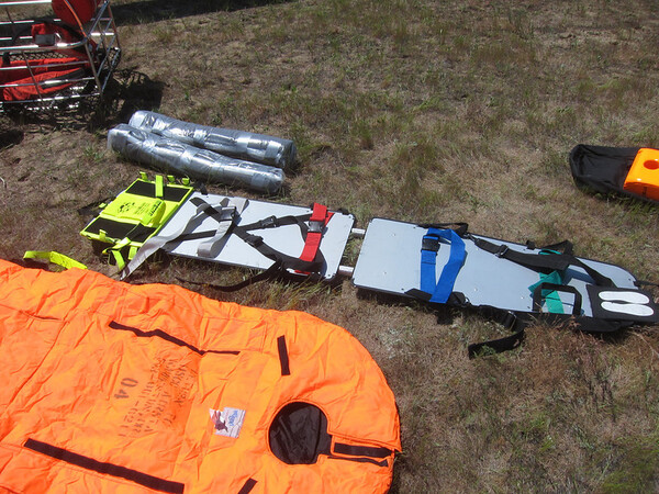 Coast Guard spinal immobilization.