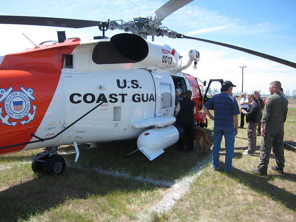 Coast Guard Helo on display.