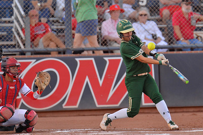 TUCSON, AZ - MAY 26:  Taylor Ellis #3 of the Baylor Bears swings at a pitch during game one of the NCAA Div. I Super Regional against the Arizona Wildcats on May 26, 2017 at Hillenbrand Stadium in Tucson, Arizona. Arizona won 3-2.  (Photo by: Sam Wasson)
