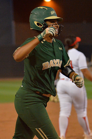 TUCSON, AZ - MAY 26:  Ari Hawkins #14 of the Baylor Bears celebrates after hitting a home run during game one of the NCAA Div. I Super Regional against the Arizona Wildcats on May 26, 2017 at Hillenbrand Stadium in Tucson, Arizona. Arizona won 3-2.  (Photo by: Sam Wasson)