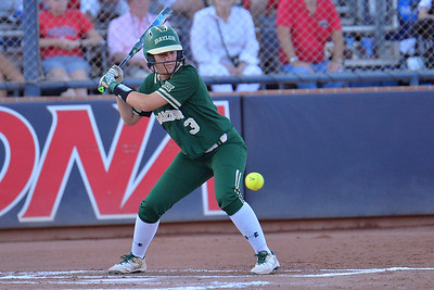 TUCSON, AZ - MAY 26:  Taylor Ellis #3 of the Baylor Bears watches a pitch during game one of the NCAA Div. I Super Regional against the Arizona Wildcats on May 26, 2017 at Hillenbrand Stadium in Tucson, Arizona. Arizona won 3-2.  (Photo by: Sam Wasson)