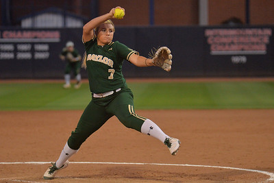 TUCSON, AZ - MAY 26:  Gia Rodoni #7 of the Baylor Bears throws a pitch during game one of the NCAA Div. I Super Regional against the Arizona Wildcats on May 26, 2017 at Hillenbrand Stadium in Tucson, Arizona. Arizona won 3-2.  (Photo by: Sam Wasson)