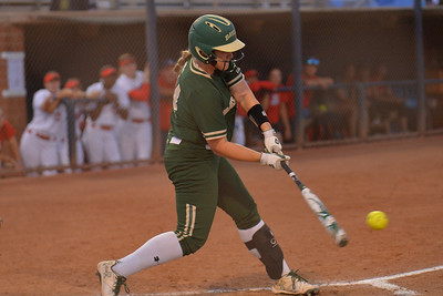 TUCSON, AZ - MAY 26:  Shelby McGlaun #24 of the Baylor Bears swings at a pitch during game one of the NCAA Div. I Super Regional against the Arizona Wildcats on May 26, 2017 at Hillenbrand Stadium in Tucson, Arizona. Arizona won 3-2.  (Photo by: Sam Wasson)