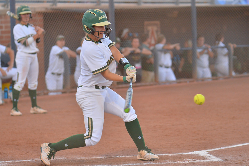 TUCSON, AZ - MAY 27:  Kyla Walker #2 of the Baylor Bears swings at a pitch during game two of the NCAA Div. I Super Regional against the Arizona Wildcats on May 26, 2017 at Hillenbrand Stadium in Tucson, Arizona.  Baylor won 6-4.  (Photo by Sam Wasson)