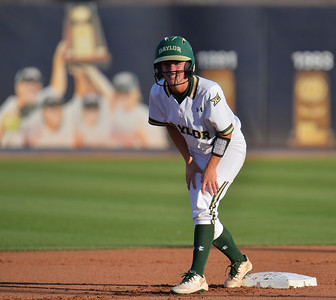 TUCSON, AZ - MAY 27:  Kyla Walker #2 of the Baylor Bears looks on during game two of the NCAA Div. I Super Regional against the Arizona Wildcats on May 26, 2017 at Hillenbrand Stadium in Tucson, Arizona.  Baylor won 6-4.  (Photo by Sam Wasson)