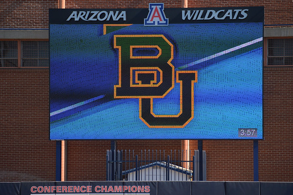 TUCSON, AZ - MAY 28:  A general view of the scoreboard before game three of the NCAA Div. I Super Regional against the Arizona Wildcats on May 26, 2017 at Hillenbrand Stadium in Tucson, Arizona.  (Photo by Sam Wasson)