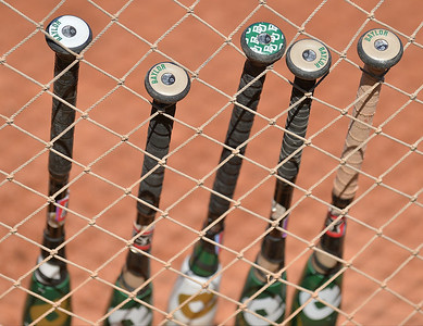 TUCSON, AZ - MAY 28:  The Baylor Bears bats are lined up against the netting before game three of the NCAA Div. I Super Regional against the Arizona Wildcats on May 26, 2017 at Hillenbrand Stadium in Tucson, Arizona.  (Photo by Sam Wasson)