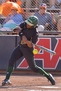 TUCSON, AZ - MAY 28:  Jessica Scroggins #15 of the Baylor Bears swings at a pitch during game three of the NCAA Div. I Super Regional against the Arizona Wildcats on May 26, 2017 at Hillenbrand Stadium in Tucson, Arizona.  (Photo by Sam Wasson)