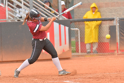 March 6, 2016: NM State pinch hitter Nue Sivia connects on a pitch in a game between New Mexico State and No. 7 Oregon at the 2016 Alexis Park Resort Classic at Eller Media Stadium in Las Vegas, Nevada. The Aggies lost to the Ducks 8-0 via run rule.