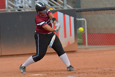 March 6, 2016: NM State designated player Corrin Green gets a hit in a game between New Mexico State and No. 7 Oregon at the 2016 Alexis Park Resort Classic at Eller Media Stadium in Las Vegas, Nevada. The Aggies lost to the Ducks 8-0 via run rule.