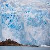Tourists at the El Brujo Glacier in Chilean Patagonia's Bernardo O'Higgins National Park.