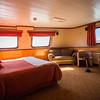 Cabin on the Cruceiros III cruise ship's Kaweskar route.
