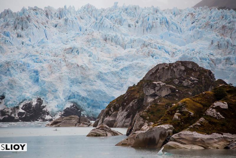 The glaciers of Chilean Patagonia in Bernardo O'Higgins National Park.