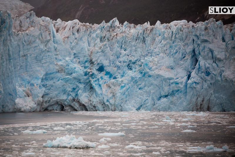 Close-up of the Amalia Glacier in Chilean Patagonia.