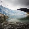 Long-exposure of El Brujo glacier in Bernardo O'Higgins National Park in Chilean Patagonia.