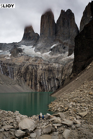 Clouds over the Torres del Paine in Chilean Patagonia.