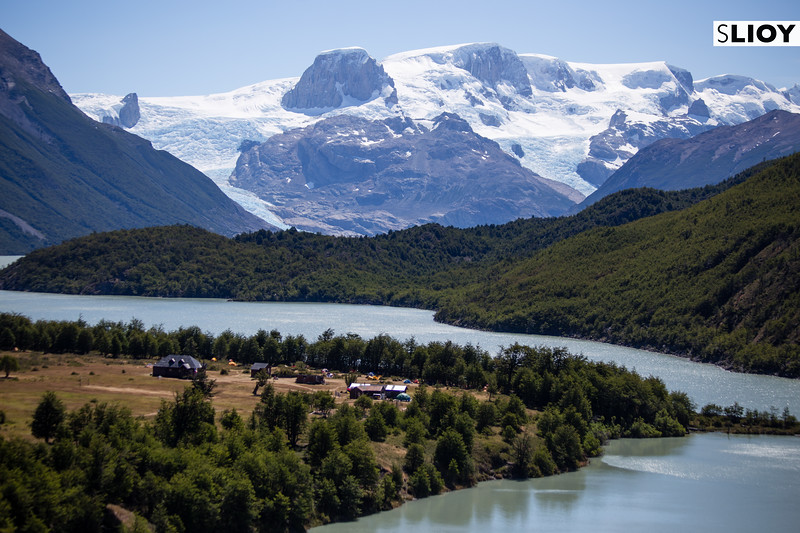 Descending into Refugio Dickson on the back side of the Torres del Paine Q route in Chilean Patagonia.