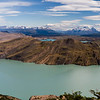 Panorama of Lago Nordenskjold from the entrace to Valle Bader above Campamento Cuernos in Chilean Patagonia's Torres del Paine National Park.
