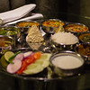 An Indian Thali food plate in Delhi.
