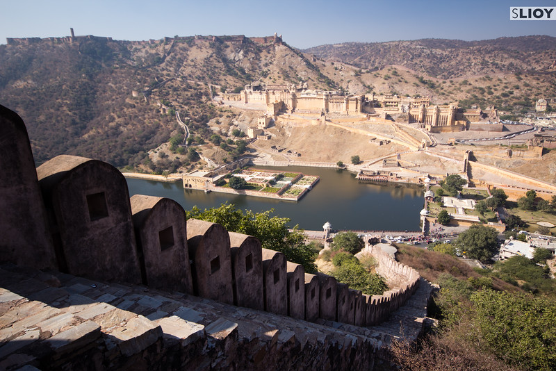 On the fortifications above the Amber Fort near Jaipur.