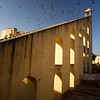 The world's largest sundial at the Jantar Mantar in Jaipur.