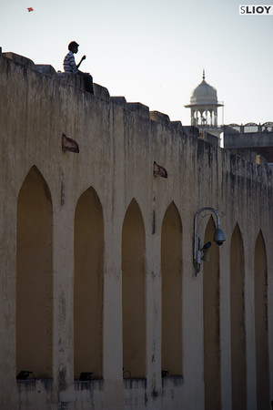 Overlooking the Jantar Mantar in Jaipur.