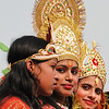 Girls in costume during Sita Bibiha Festival in Janakpur, Nepal