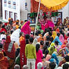 Crowds at Janaki Mandir temple during the Sita Bibiha festival in Janakpur, Nepal
