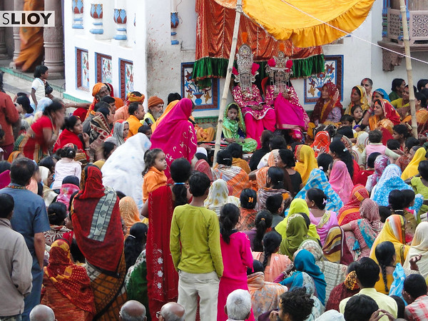 Crowds at Janaki Mandir temple during the Sita Bibiha festival in Janakpur, Nepal