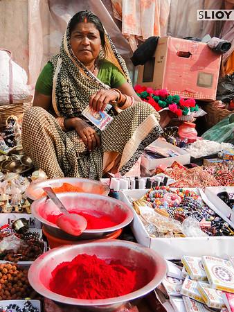A street vendor at the Sita Bibiha festival in Janakpur, Nepal