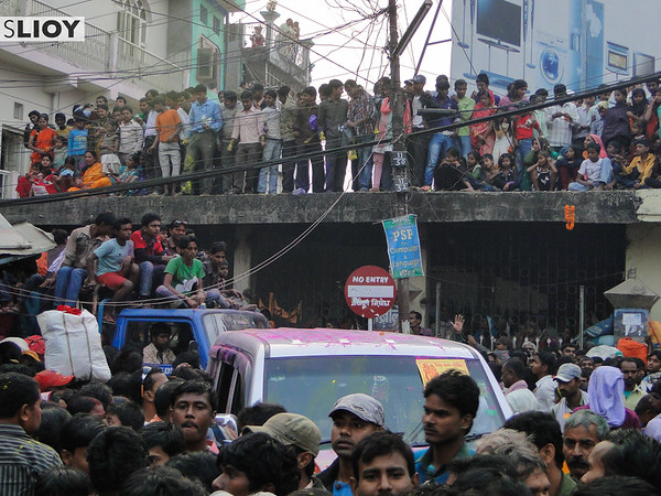 Parade Route during Sita Bibiha Festival in Janakpur, Nepal