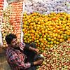 Fruit Vendor at Sita Bibiha Festival in Janakpur, Nepal