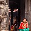 Locals in Kathmandu's Durbar Square in Nepal.