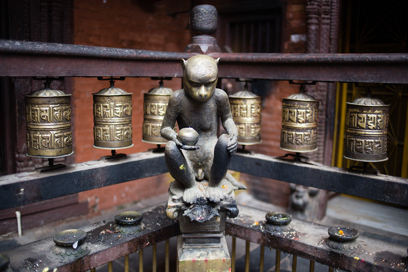 Close-up details of the Golden Temple in Patan, Kathmandu Valley, Nepal.