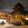Quiet night near the temples of Patan (Basantpur) Durbar Square.
