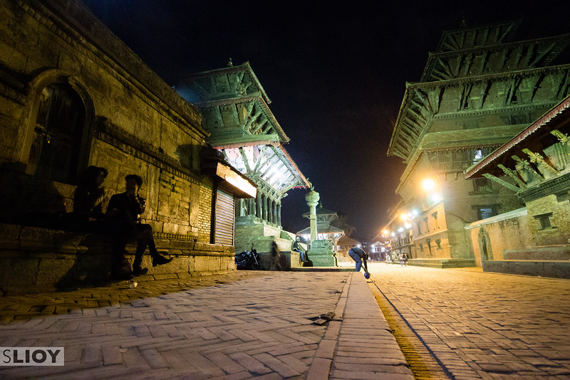 Night in Patan (Basantpur) Durbar Square.