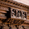 Close-up details of the Durbar Palace in Patan, Kathmandu Valley, Nepal.