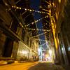 Patan backstreets at night.