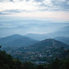 Sunrise from the hills of Nagarkot near Kathmandu Nepal.