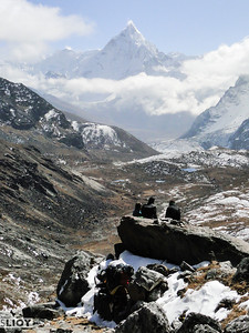 Ama Dablam seen from the Cho-La Pass.