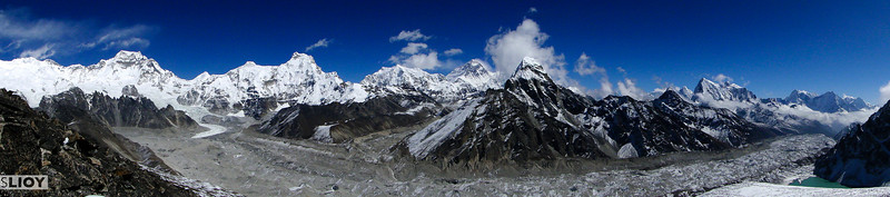 Everest west side view as seen from near Gokyo.