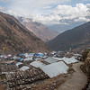 View from above Gatlang village along the Tamang Heritage Trail in Nepal.