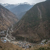 Above the village of Syarbrubesi at the junction of the Langtang and Tamang Heritage Trail hikes in Nepal.
