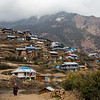 Bottom view of Thume village along the Tamang Heritage Trail in Nepal.